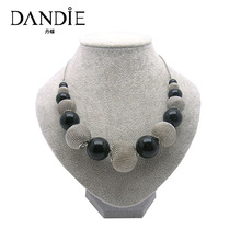 Dandie Hot Sale Design Chocker Necklace With Back Acrylic Bead And Wire Ball For Women, Daily Wear Fashion Jewelry