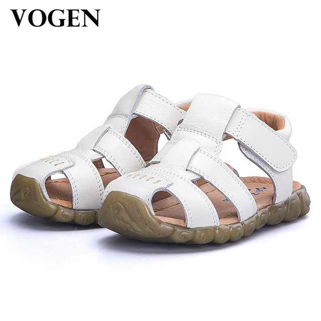 7f6c56b98b Kids Sandals 2017 Summer Genuine Leather Soft Soled Beach Shoes Children  Baby Little Boys Infant Toddler Girl Shoes Orthopedic