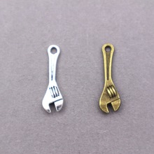 30pcs wholesale metal alloy vintage  Wrench tool charms  for diy fashion jewelry 30pcs wholesale metal alloy vintage wrench tool charms for diy fashion jewelry