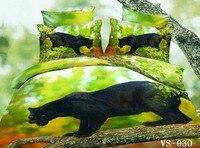 סטי כיסוי שמיכת מצעים 3d מודפס 7 יחידות נמר שחור שטוח כיסויי מיטה גיליון מיטה בסדיני תיק מותג מלכת מלך סופר גודל