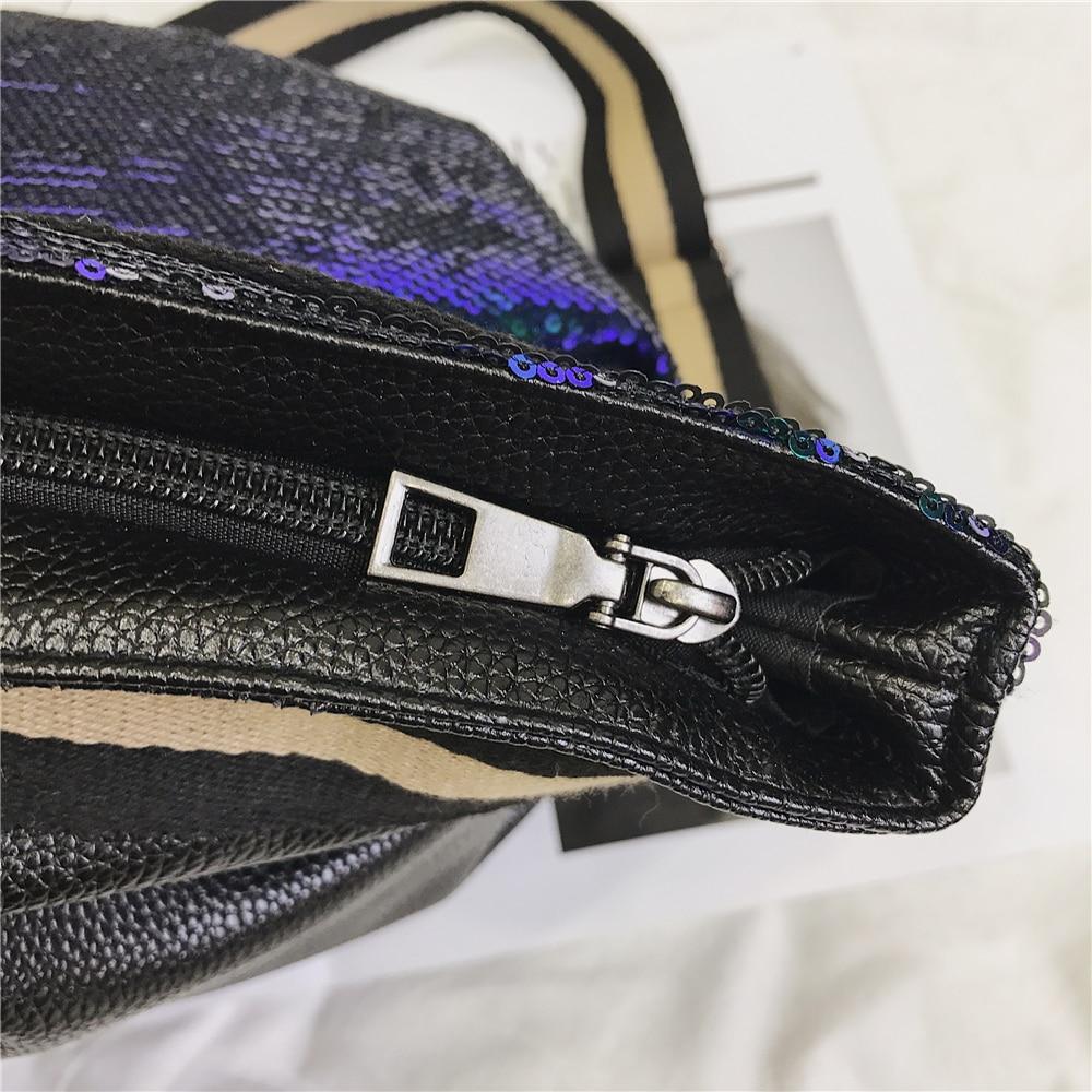 2019 Women reversible Sequins leather pu Gym bag for Fitness Sports Bag Shoulder Crossbody Bag Tote Travel Duffel Handbag