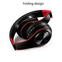 Fone de ouvido estéreo HIFI para celular xiaomi iphone e tablet Samsung, com bluetooth para música, FM e com suporte de cartão SD e microfone 2