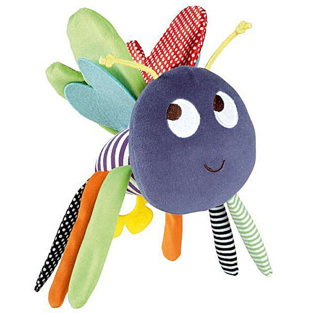 Hanging Plush Butterfly Rattle