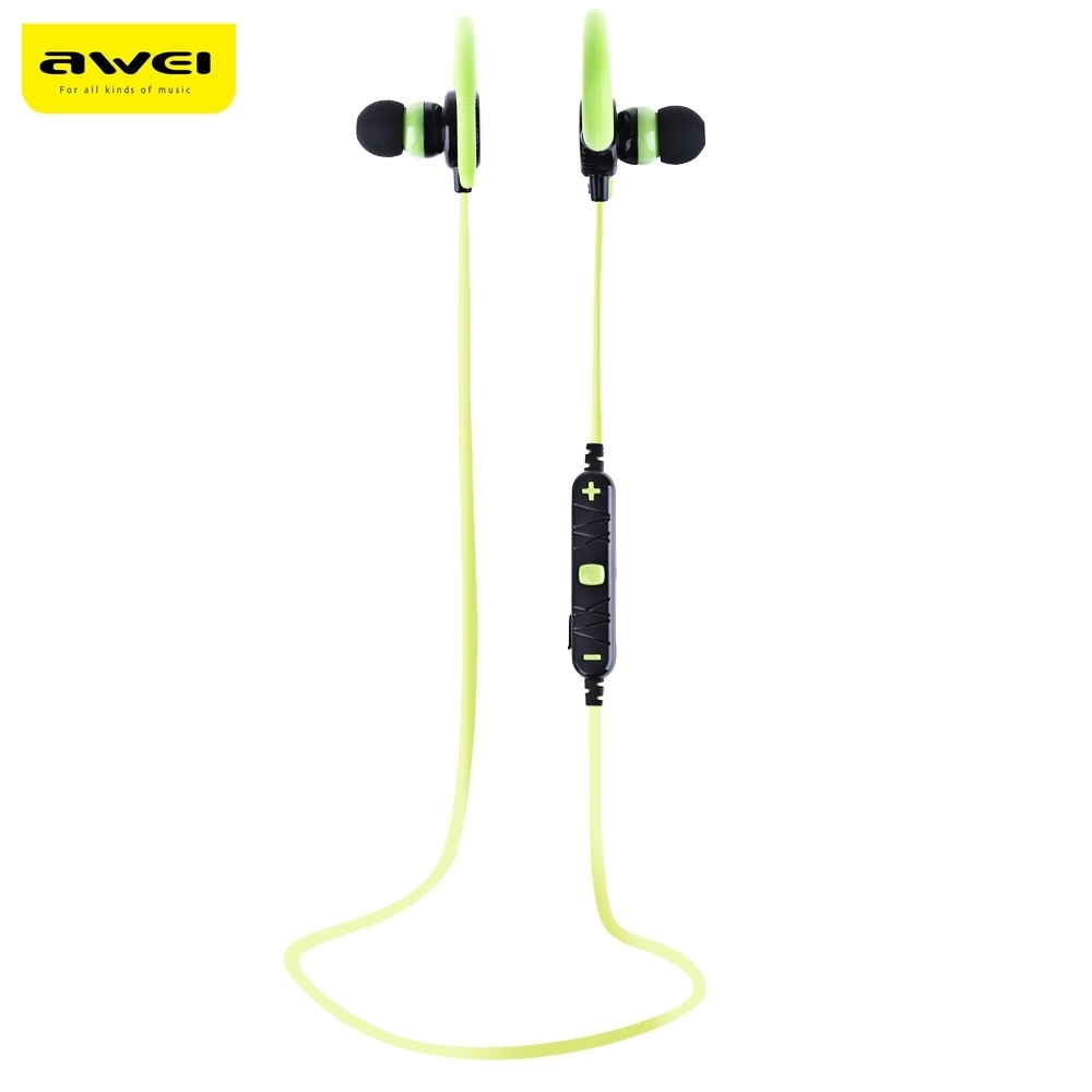 AWEI A620BL In-Ear Stereo Wireless Headphone Bluetooth Earphones Runnng Sport Earpods For Phone With Microphone Ear hook Headset awei q5i in ear earphones with mic gold