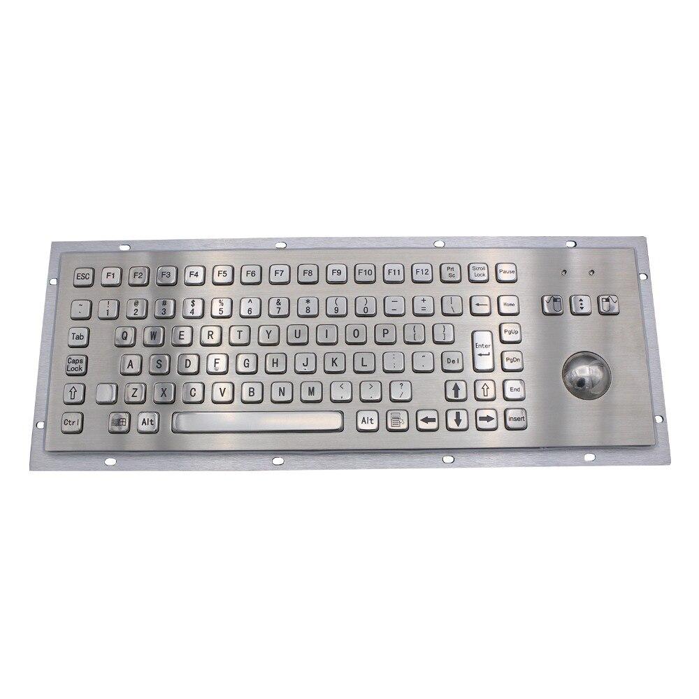 Clavier rocailleux en métal de clavier numérique d'usb d'acier inoxydable de Trackball pour le kiosque de Service d'individu