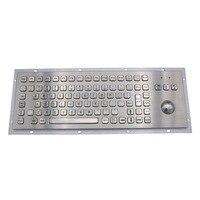 IP65 Киоск металлический промышленная клавиатура с трекболом Нержавеющаясталь USB клавиатуры прочный металл клавиатура для самостоятельног