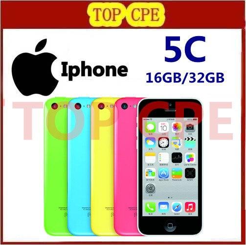 Iphone 5c Factory Unlocked Original Apple iphone 5C phone 8gb 16gb 32gb 8MP Camera ios dual