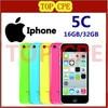 Iphone 5c Factory Unlocked Original Apple iphone 5C phone 8gb 16gb 32gb 8MP Camera ios dual core Wifi GPS WCDMA 3G Free Shipping