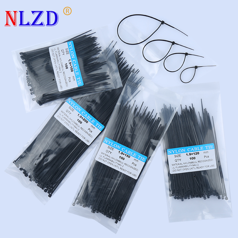 """4/"""" 6/"""" 8/"""" 12/"""" Cable Ties Zip Tie Pack Assorted Color Self Locking Nylon Organizer"""