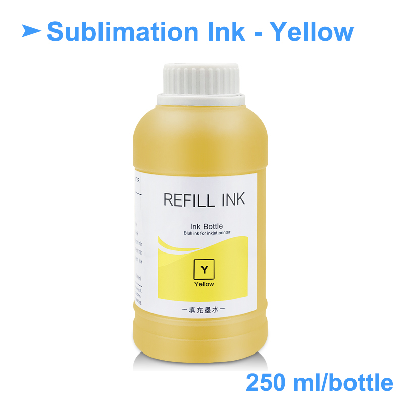 4 x 250ml Universal Sublimation Ink For Epson Printers Heat Transfer Ink  Heat Press Sublimation Ink Used For Mug Cup/T-Shirt