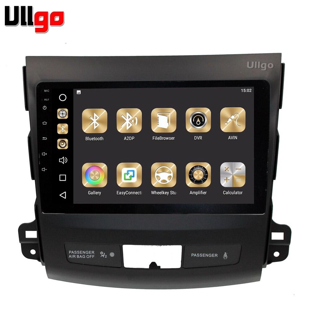 4g + 32g Android 8.0 Voiture DVD GPS pour Mitsubishi Outlander 2006-2012/Peugeot 4007/ citroen C-crosser Autoradio GPS Unité De Tête de Voiture