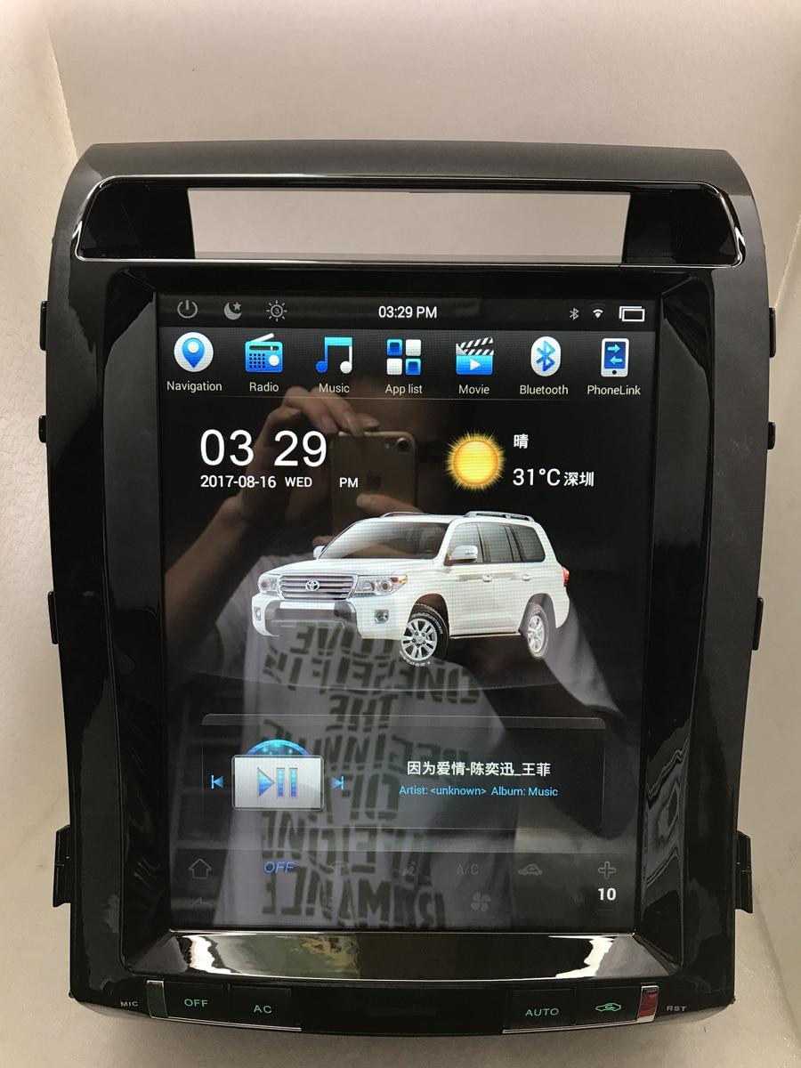 12.1″ HD 1024×600 Android 6.0 Car Stereo Headunit BYNCG For Land Cruiser 200 2008-2015 Radio GPS Navi Audio 2GB RAM 32GB Flash