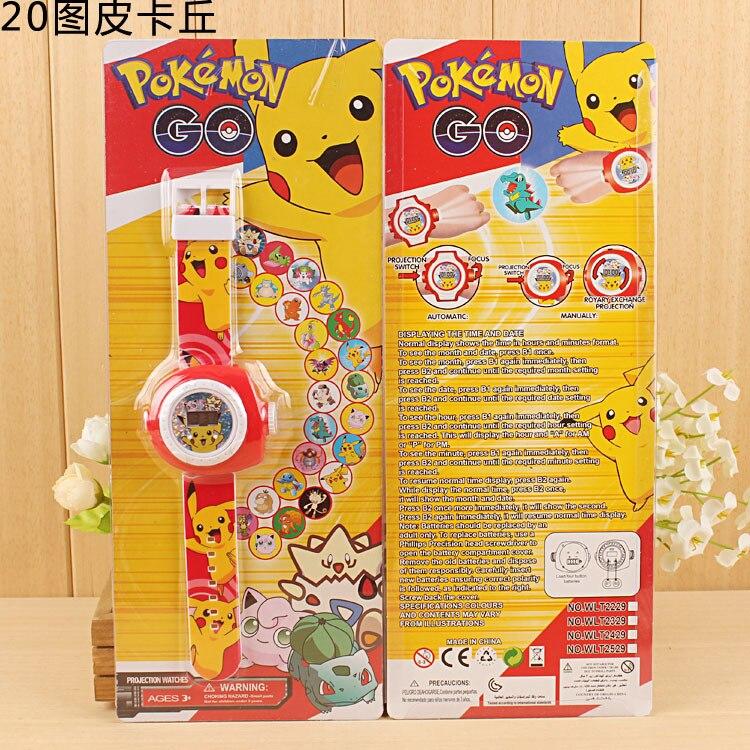 3D Led Digital 20 Projection 15style Cartoon pikachu spiderman hello kitty Watch Children Kids watch Boys Girls Clock Gift 1pcs