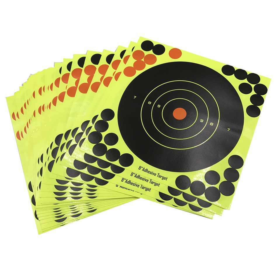 10pcs/lot Splash Flower Target 8-inch Adhesive Reactivity Shoot Target Aim For Gun / Rifle / Pistol Binders