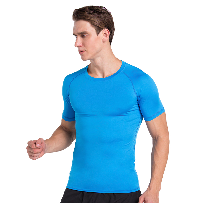 Men Compression Athletic T-shirt Base Layer Tights Sports Gym Fitness Running