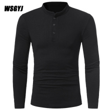 2017 New Fashion Brand Stand Collar Slim Fit Long Sleeve T Shirt Men Fitness Fitness Camiseta