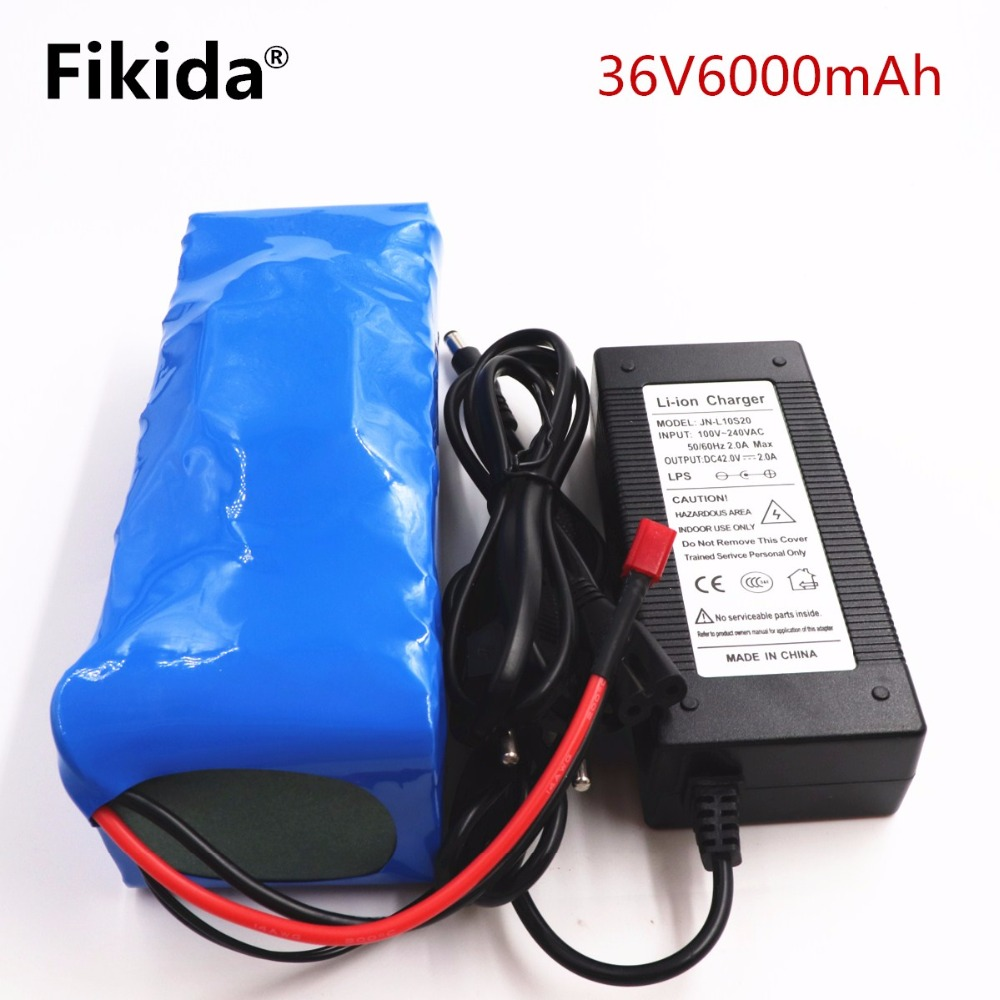 Fikida 36V 6ah 500W 18650 lithium battery 36V 8AH Electric bike battery with PVC case for electric bicycle 42V 2A charger hot sale electric bike battery 36v 12ah 500w lithium ion e bike battery with pvc case bms 2a charger