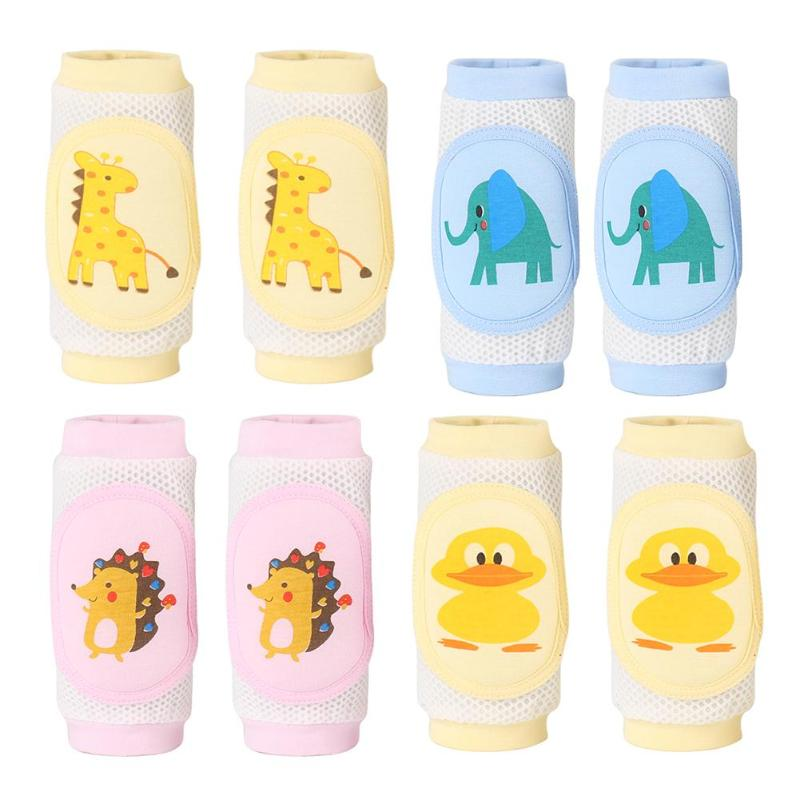 1 Pair Baby Knee Pads Protector Children Safety Crawling Elbow Cushion Baby Knee Pads Protector Breathable Kids Children Safety(China)