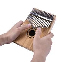17 Key Kalimba Bamboo Rosewood Finger Thumb Piano Mbira with Case Bag Xmas Gift Musical Instrument for Music Lovers Beginner