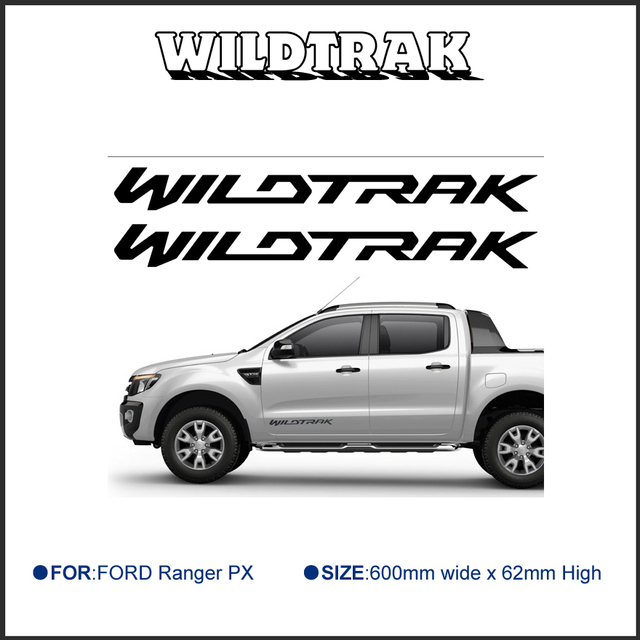 Free shipping 2 pc wildtrak graphic vinyl sticker for side or rear tailgate sticker decal ford