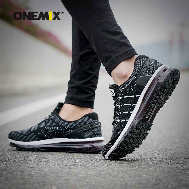 Onemix Women Autumn&Winter Unique Shoe Tongue Design Breathable Outdoor Running Shoes Sneakers Sports Shoes Free Shipping Black onemix autumn women shoes breathable mesh comfortable wearable antislip soft outdoor sports running shoes sneakers free shipping