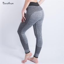 New Women Sexy Cropped Leggings High Waist Elastic Wicking Force Exercise Female Elastic Fitness Leggings Slim Trousers