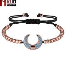 NIDIN New Trendy  Handmade U Shape Charm Bracelet For Elegant Women AAA Cubic Zircon Jewelry Wholesale Fine Party