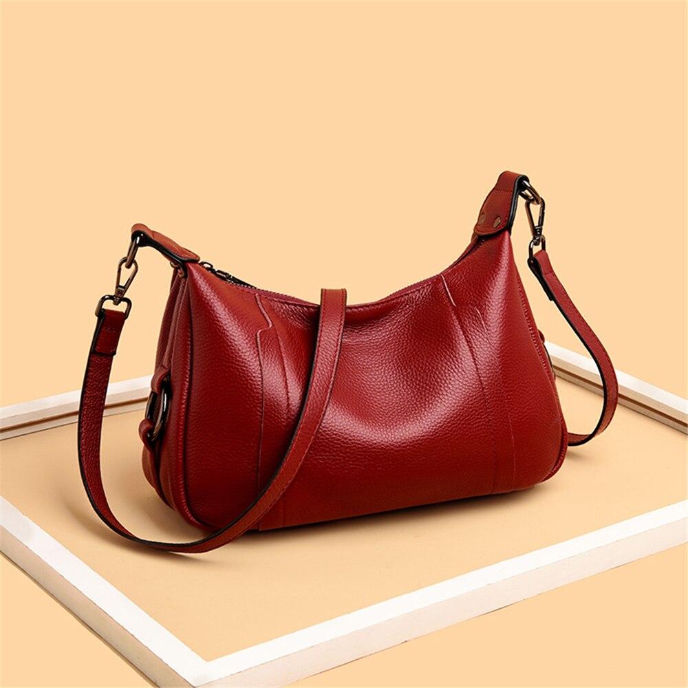 Bolsas Feminina 100% Genuine Cow Leather Luxury Handbags Crossbody Shoulder Bags For Women Soft Small Tote New Sac A Main Femme