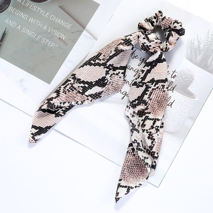 Levao fleur impression cheveux écharpe arc chouchous queue de cheval bandeau pour femmes cheveux accessoires nœud papillon élastique cheveux corde bandeaux 20