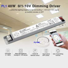 PL1 40W 0/1~10V Dimming Driver 900mA led power supplly;FUT087 2.4G wireless Touch Remote Controller