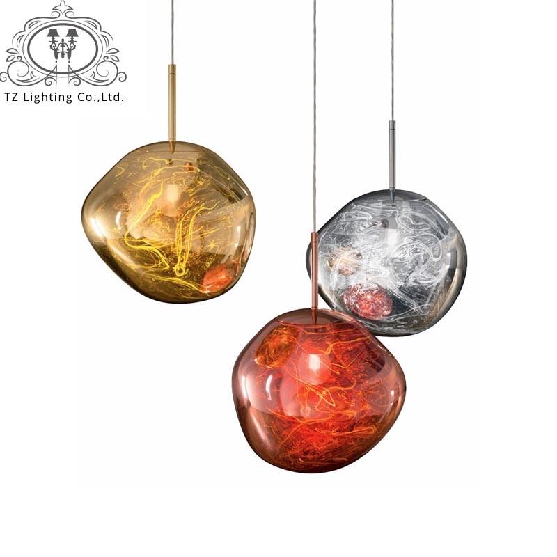 TZ Post-moderne Creative Tom Dixon Fondre Pedant Lampe PVC Lave Irrégulière Pedante Lumières pour Salon Lampe De Chevet éclairage à la maison