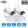 Hiseeu 4CH 960 P/1080 P двусторонний мониторинг Беспроводная система видеонаблюдения 2MP детектор движения сетевой комплект камер безопасности