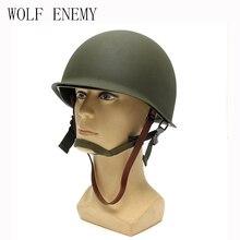Neue Heiße Verkauf Hohe Qualität Universal Portable Military Stahl M1 Helm Taktische Schutzarmee Ausrüstung Feld Grün Helm
