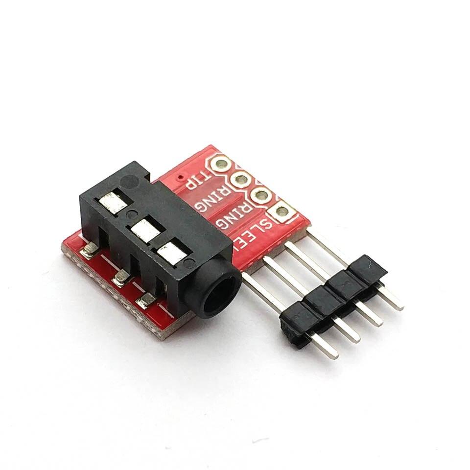 TRRS 3.5mm Jack Breakout Board Headset Stereo Socket Plate Extension Module