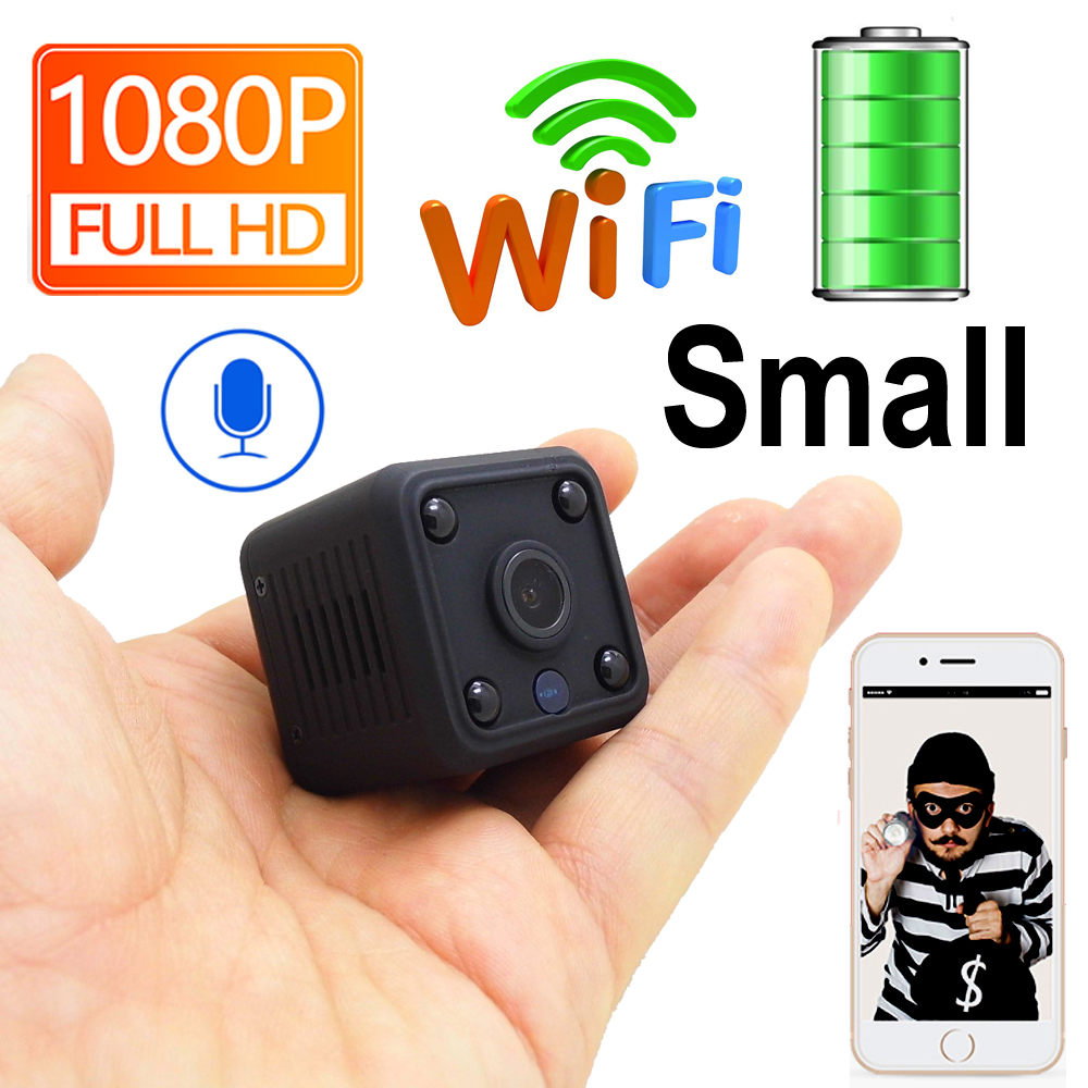 JIENUO Mini Battery Camera WIFI Ip Battery IpCam Cctv Wireless Security HD HomeSurveillance Video Micro Cam Night Vision 1080P