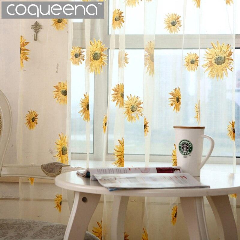 girasol cortinas de tul para puerta de la cocina cocina cortinas cortinas para la sala de