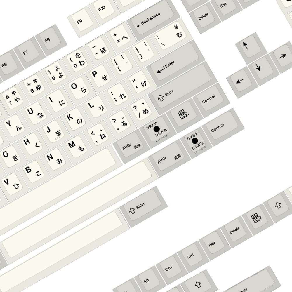 Enjoypbt EPBT Black Japanse  145keys  Japanese Dye Sub Mechanical Keyboard