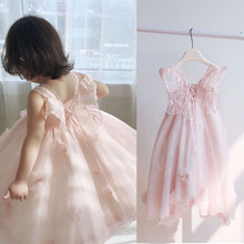2019 kids dresses for girls summer clothes fairy Butterfly wings girls princess dress flower baby tutu dress 1~10 age girl dress v tree flower girl dresses long sleeve baby dress princess dress for girls children dress age 10 12 teenager clothes