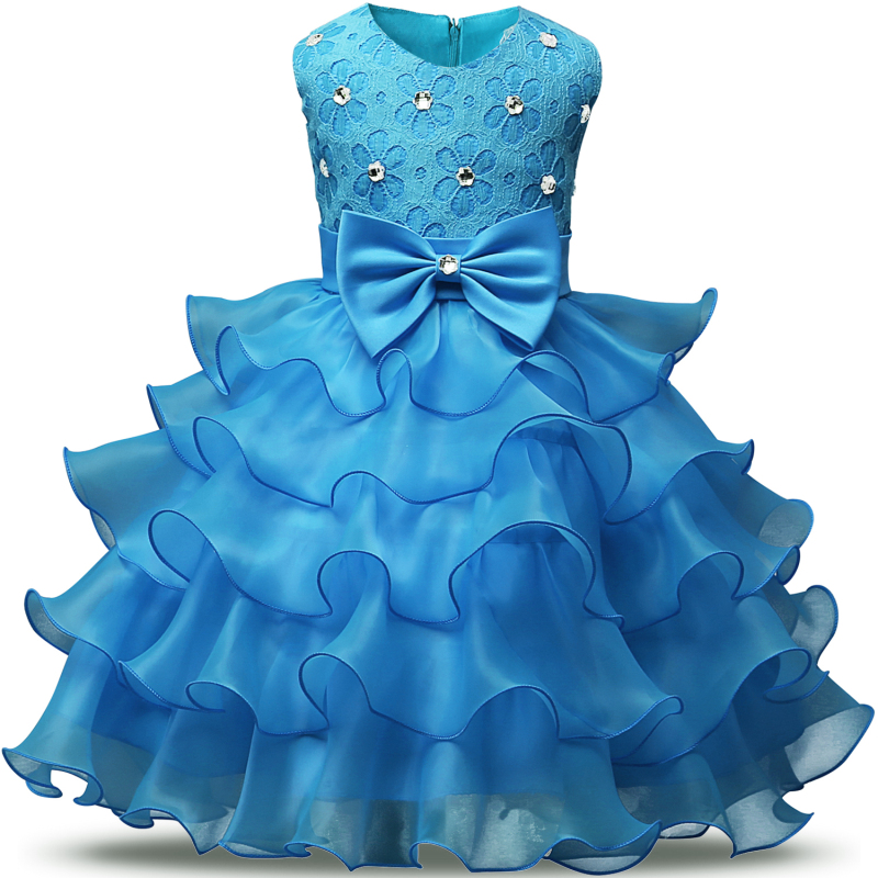 Lace Baby Dresses Girls Kids Evening Party Dresses For