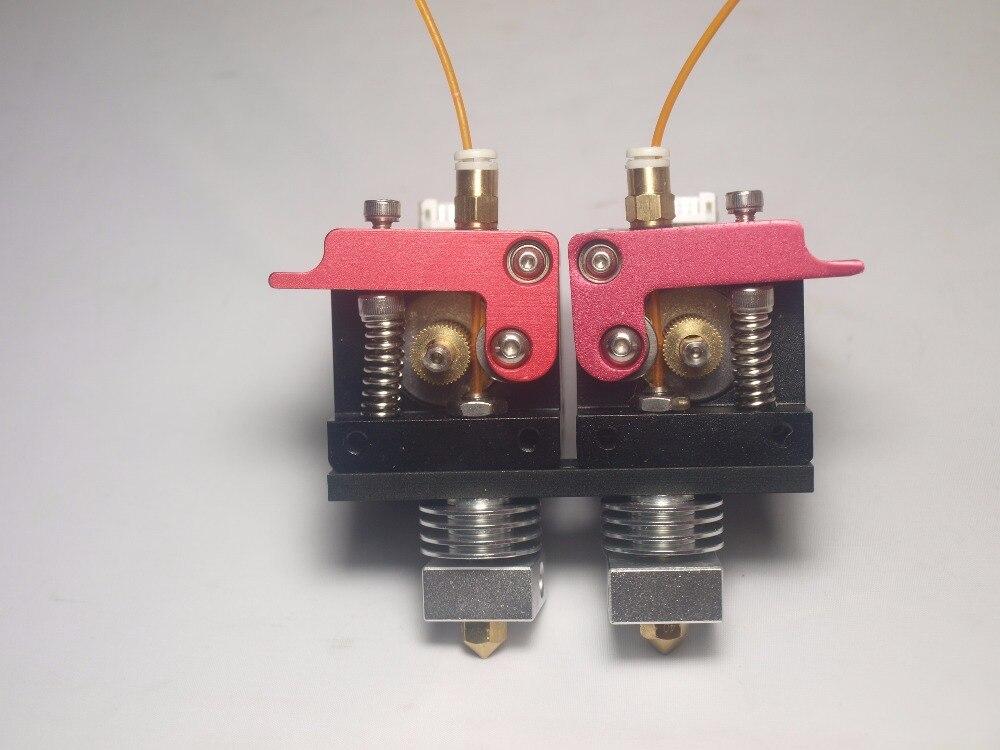RepRap D принтер металла двойной прямой экструдер комплект 1.75 мм нити с NEMA 17 шаговый двигатель двойной экструдер комплект ptfe 0.4 мм