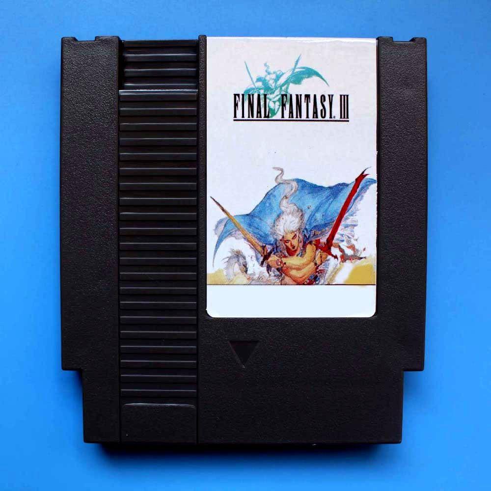 Final Fantasy 3 inglês 72 pinos Jogo 8bit cartão transporte da gota!
