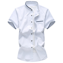 good quality summer short sleeve men casual shirt plus size 7Xl breathable luxury brand shirts
