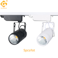 LED Track Light Modern 15W Tracking Lighting For Clothing Shop Exhibition COB Rail Ceiling Spotlights Lamp Store Rail Lights