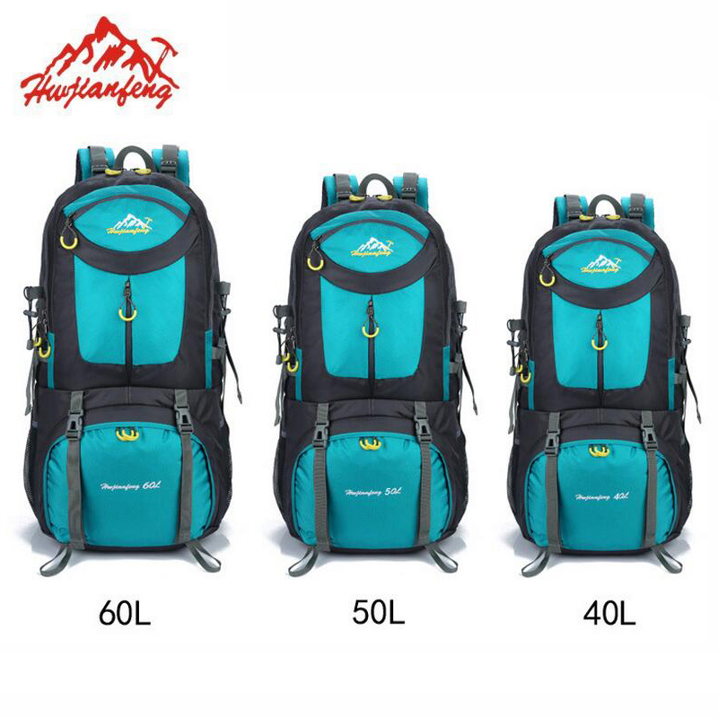 Outdoor Climbing 60L Hiking Backpacks 40L Rucksack 50L Hunting Travel Backpack Knapsack Waterproof Camping Sports Bag large 60l sports bag backpack men women nylon waterproof knapsack hiking camping outdoor travel rucksack back pack