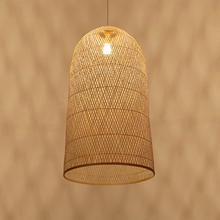 Southeast Asia Bamboo Pendant Lamps LED Wood Wicker Pendant Lights Dining Room Home Deco Hanging Lamp Kitchen Fixtures Luminaire modern southeast asia pastoral hand knitted rattan wicker led e27 pendant light for dining room living room dia 27 37 42cm 2288