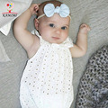 KAMIMI 2017 Летний Новый Ребенка Ползунки Белый Кружевной Комбинезон Ребенок Новорожденный Отверстия Ползунки Младенческой Детские Cool Одежда 0-2Y I173