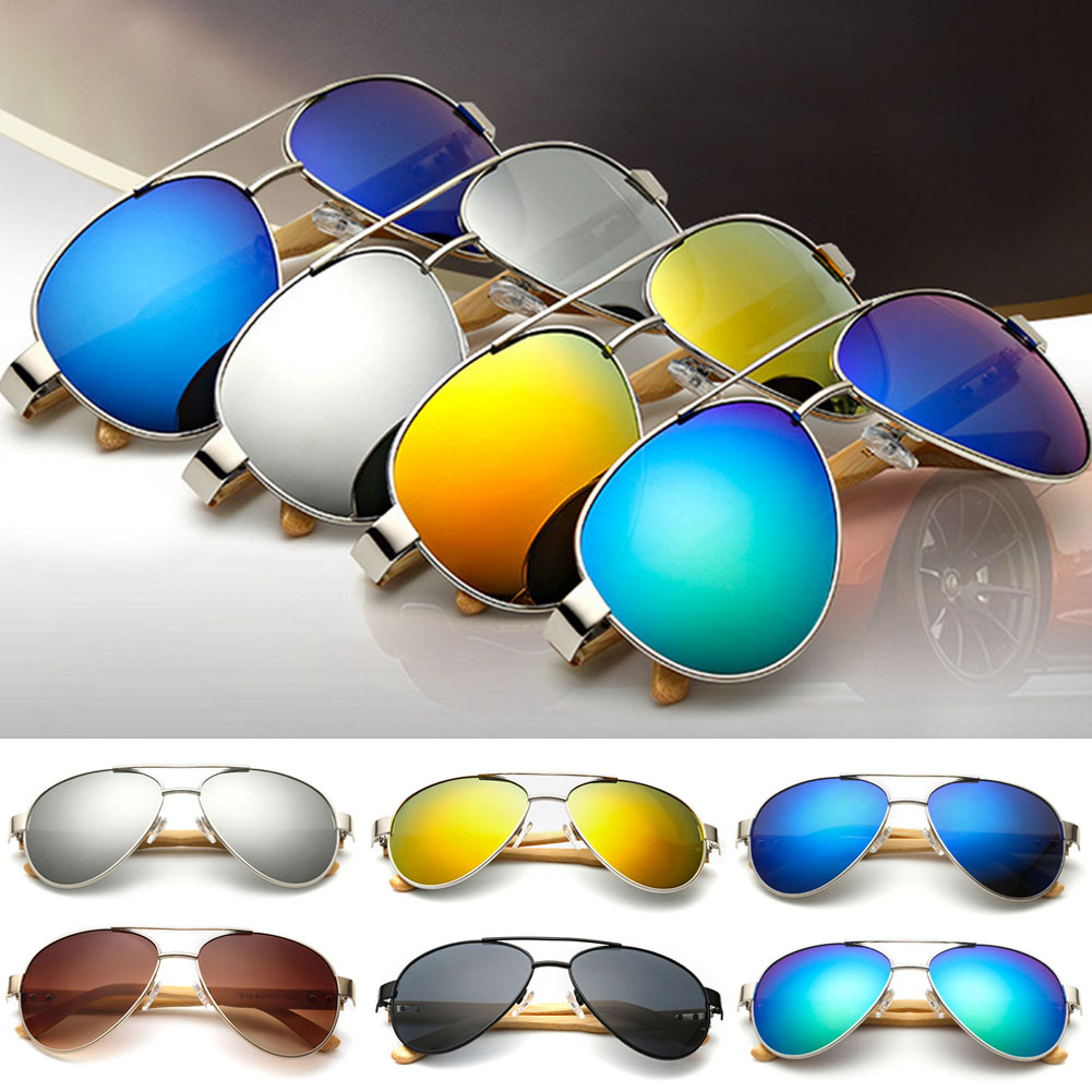 f9db8062b8 2017 Retro Bamboo Wood Sunglasses Men Women Brand Designer New Goggles Gold  Mirror Sun Glasses UV400