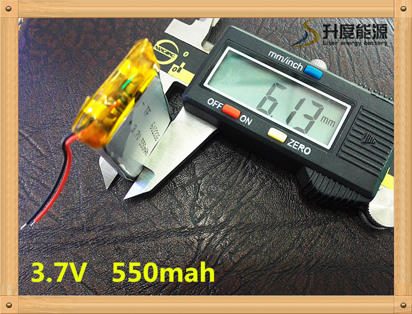 Free shipping 3.7V lithium polymer battery <font><b>612338</b></font> 062238 MP3 DIY Speaker millet Bluetooth 550MAH image