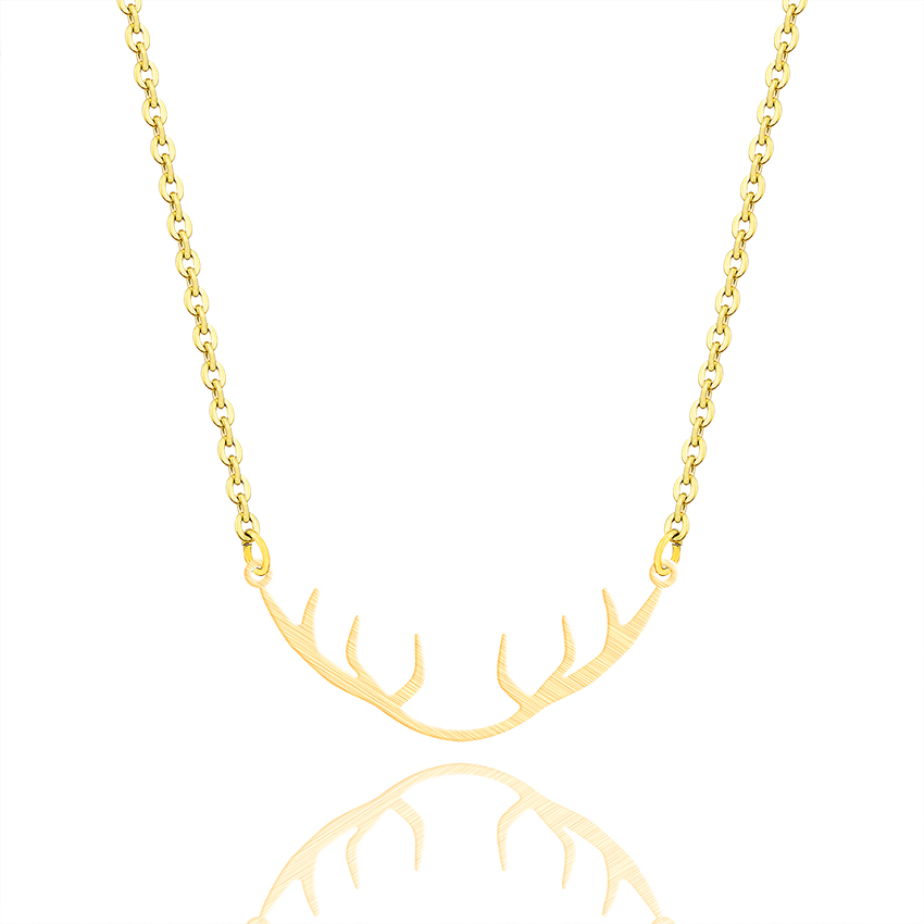 2018 Fashion Jewelry Elk Antlers Pendant Necklace