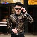 Camisas para os homens manga comprida vestido de veludo Camisa homem de negócios Chemise Masculina Camisa Vetement Homme